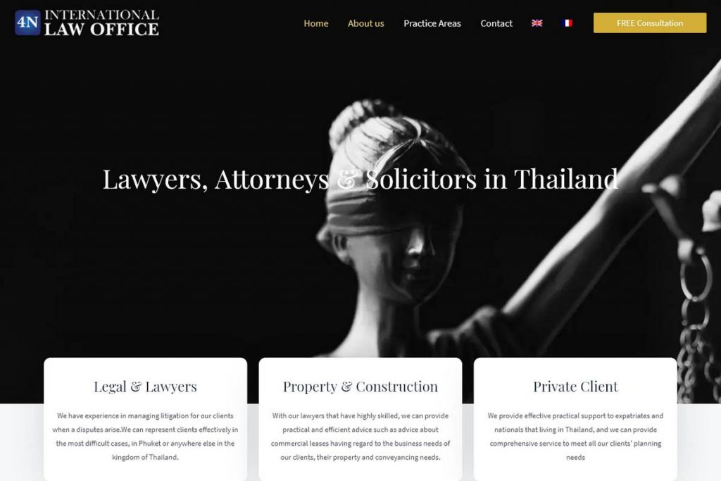 4N International Law Office – Lawyers, Attorneys Solicitors in Thailand