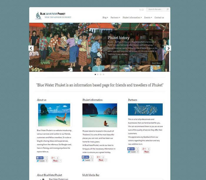 BlueWaterPhuket - Your trip advisor in Phuket- Phuket Web Design