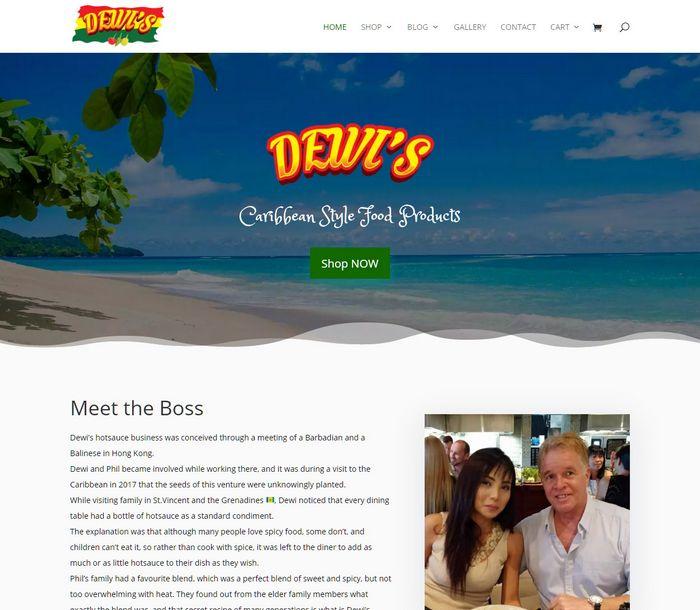 Dewi Caribbean Hot Sauce - Melki.Biz - Consulting, SEO & Web Design in Phuket