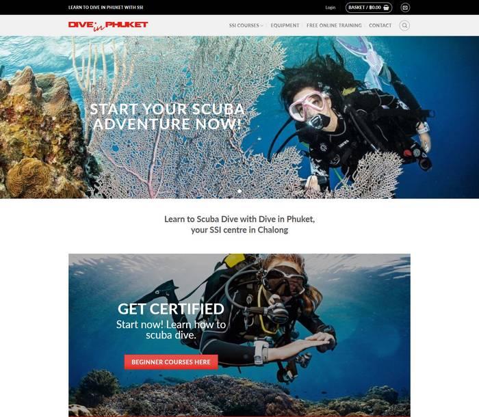 Dive in Phuket - Melki.Biz - Consulting, SEO & Web Design in Phuket