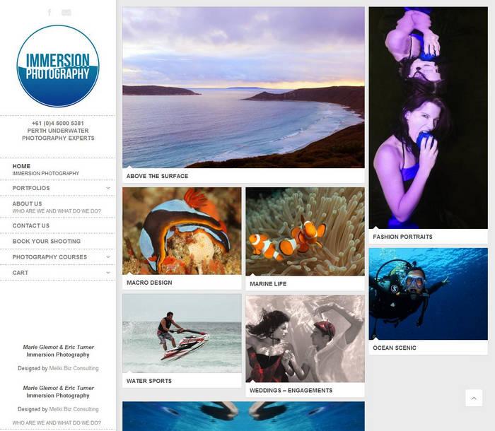 Immersion Photography - Marie Glemot & Eric Turner - Phuket Web Design