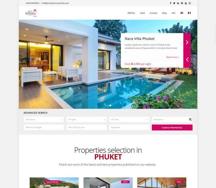 Phuket Serenity Villas by Melki.Biz - Consulting, SEO & Web Design in Phuket