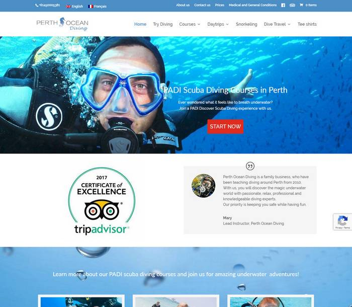 Scuba Diving Courses and Daytrips in Perth - Australia